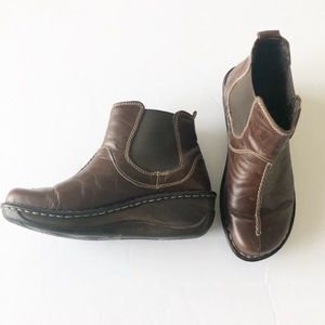 Josef Seibel Brown Leather Chelsea Ankle Boot